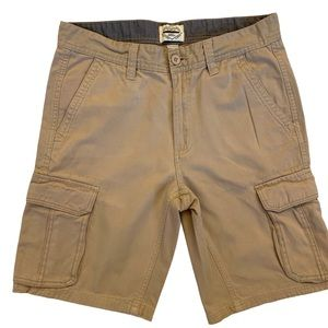 St John's Bay Legacy Cargo Shorts Khaki W34 L10